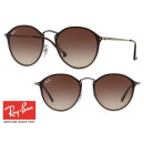 Fashionable Ray-Ban Blaze Round RB3574N Brown