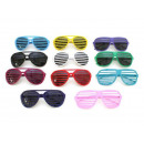 Party Sunglasses Sunglass with grid etching Bril