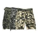 grossiste Shorts et pantacourts: Pantacourt homme avec ceinture Camouflage cargo
