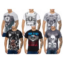 Men's Short sleeve T-shirt Round neck skull