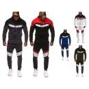 Costume de sport de bande de costume de jogging de