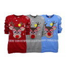 Ladies Woman Christmas Knit Sweater Rudolph