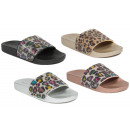 Women's Trend Slipper Metallic Leopard Look Sh