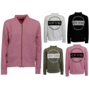 Großhandel Pullover & Sweatshirts: Damen Strick Jacke Jacken Sweat Pullover Zipper