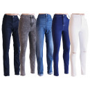Women jeans pants  jeans trousers mix Stretch Skiny