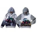 Kids boys pullover hoody tractor farmer farmer