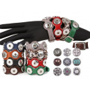 25cm chunk EasyButton leather bracelet pushbutton