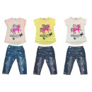 Kids Girls Suit Set of 2 Trend Summer T-Shirt
