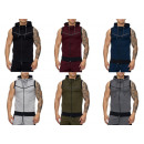 Men's Vest Short Sleeve Summer Jacket Hoods