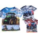 nagyker Ruha és kiegészítők: Kids Boys T-Shirt Traktoros póló Rövid ujjú póló