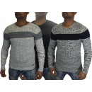 Men's Longsleeve Pullover Crewneck Shirts Pull