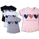 Kindermeisjes Zomer Trend T-Shirt Heart Beads
