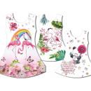 Großhandel Fashion & Accessoires: Kinder Mädchen  Trend Kleid Flamingo Panda