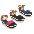 wholesale Shoes: Ladies Woman  Summer Trend Canvas Jeans Sandal