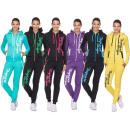 Ladies jogging suit sports suit tracksuit