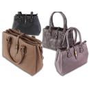 ingrosso Borse & Viaggi: Signore borsa  elegante con twist lock colori solid