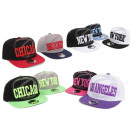 Basecap Cap Caps USA New York Atlanta Chicago Truc