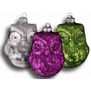 Christmas balls owl glass Christmas decorations