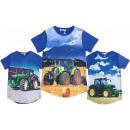 Kinder Jungen T-Shirt Traktor Bauer Farmer Shirt
