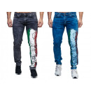 Fashionable Men's Jeans Trousers World Cup cou
