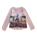 Kids girls trend pullover sweatshirt horses