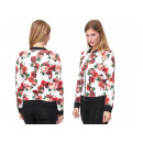 wholesale Coats & Jackets: Sporty Trend Ladies Bomber Jacket Floral ...