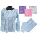 Damen Schlafanzug 2-teiliges Set Punkte Spitze