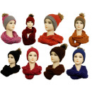 High class ladies wrap scarves wool cap Mütz