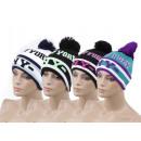 Fashionable unisex wool hat with pompom NY New Yor