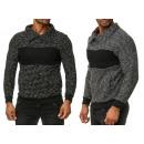 Großhandel Pullover & Sweatshirts: Herren Trend Pullover Langarm Kragen Streifen