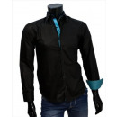 wholesale Shirts & Blouses: Business Casual Shirts Shirt Sport Shirt Uni Black