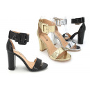 Damen Woman Sommer Trend High-Heels Sandalette