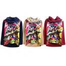 Kids Girls Sweatshirt with Scarf Longsleeve
