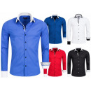 wholesale Shirts & Blouses: High Quality  Men's Shirt  Casual Slim Fit ...
