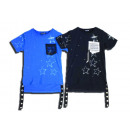 Kinder T-Shirt Sterne Häkel Brusttasche Shirts Obe