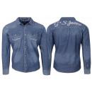 wholesale Shirts & Blouses: High quality Men's Jeans Shirt Casual Slim ...