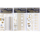 wholesale Piercing / Tattoo: Once Metal Tattoo Classic Gold Silver Bracelet