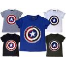 Kinder Unisex T-Shirt Captain America Pailletten