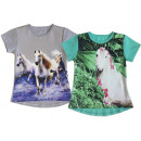 Kids Girls Trend T-Shirt Horse Tunic Top