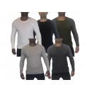 Manica lunga maglione camice pullover da uomo