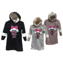Kids trend girl cuddly winter dress plush