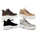 Women Trend Sneaker Trend Holo Metallic Look