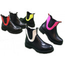 Women Trend Ankle Boots Colorful Stripe Outdoor