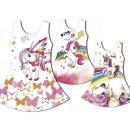Kinder Mädchen  Kleid Einhorn  Emoji Blumen ...