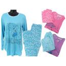 Großhandel Nachtwäsche: Damen Schlafanzug 2-teiliges Set Bär Schlafanzüge