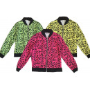 Kids Girls Trend Neon Cardigan Leopard Look