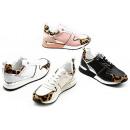 Women's Trend Sneaker Metallic Leopard Look La