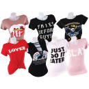 Women Woman Short Sleeve T-Shirts Mix round neck m