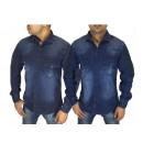Großhandel Hemden & Blusen: Herren Men Jeanshemd Hemden Freizeithemd Hemd