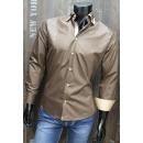wholesale Shirts & Blouses: Business Casual Shirts Shirt Sport Shirt Uni Beige